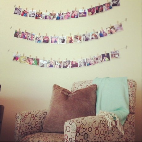 Wall of instagram photos