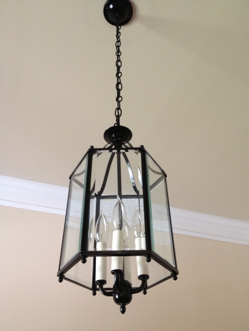 Black and White Lantern Light