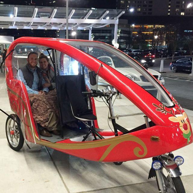 Sleigh Ride Atlanta Style in a Pedi Cab